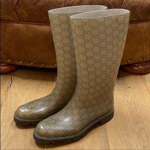 GUCCI Edimburg GG Rain Boots Size 40